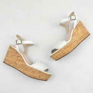 Kate Spade NEW Tomas Platform Cork Wedges Sandals